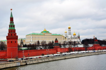 The Moscow Kremlin, winter view