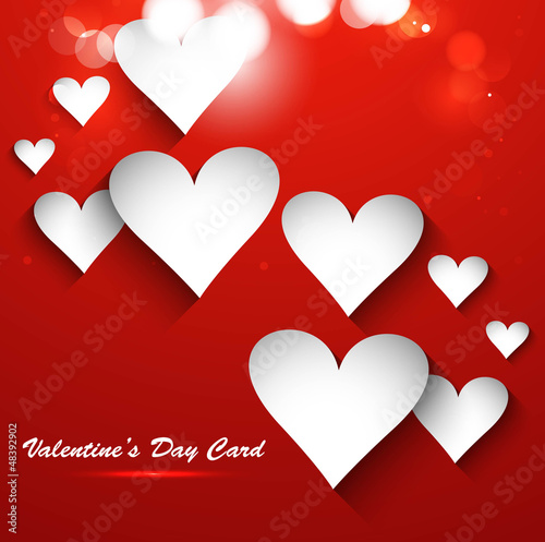 Valentines Day bright background colorful heart shape vector ill