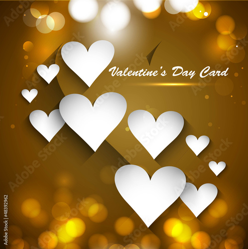 Valentine's Day Gift card bright colorful Vector