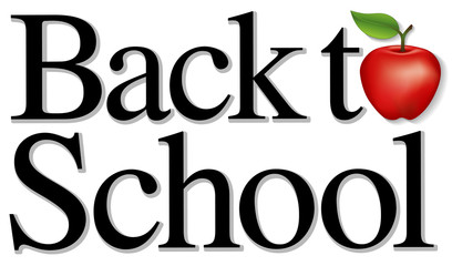 Back to School Title, red apple, education, literacy projects