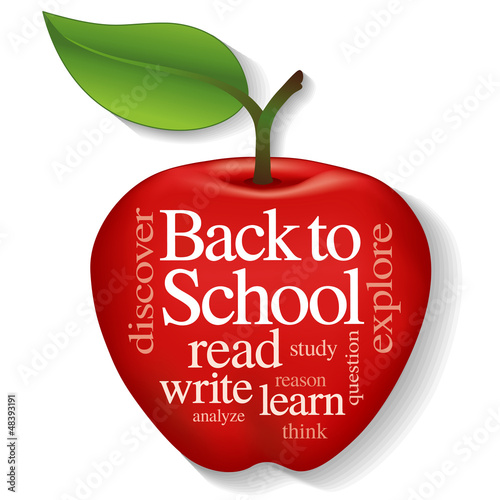 Apple Word Cloud, Back to school, education, literacy projects
