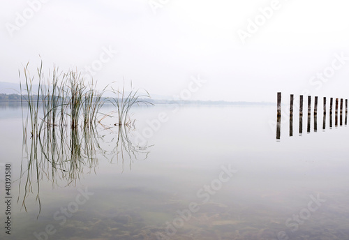 Foggy day at Lake Balaton,Hungary