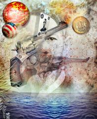 Gunshot in the sea