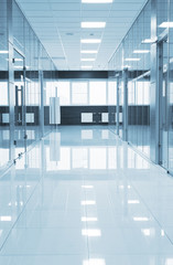 Corridor in modern business center