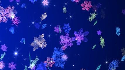 変化する雪の結晶