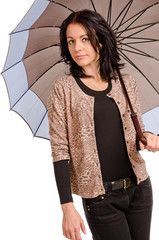 Stylish woman with an umbrella