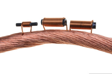 Copper coils and wires, the idea of electric energy consumption