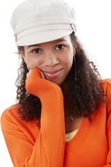 Closeup portrait of black beauty