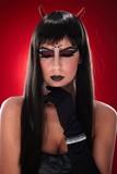 Portrait of devil like woman