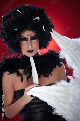 Black bogy with angel wings