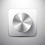 Vector volume knob icon