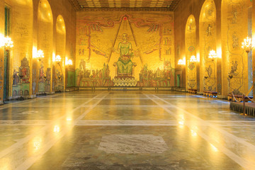 Stockholm City Hall ballroom