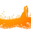 Hochzeitskarte Orange Vektor