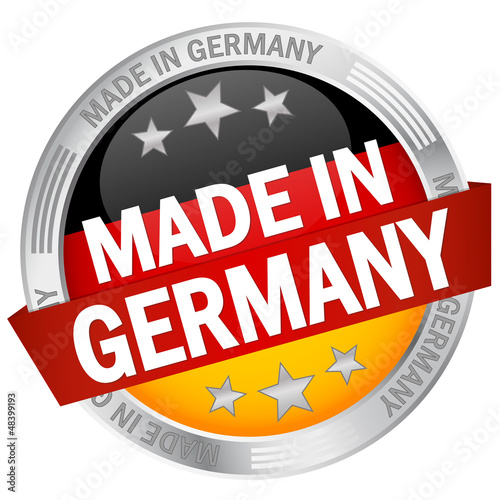 "Button mit Banner ""Made in Germany"""