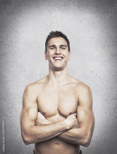smiling sexy man