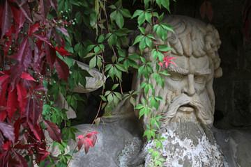 Der Wilde Mann auf den Weinterrassen von Schloss Wernigerode