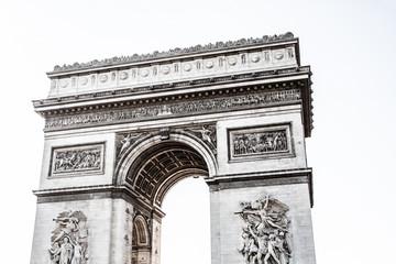 Arch of Triumph on the Charles De Gaulle square. Paris, France