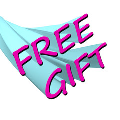 Free Gift Sign
