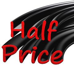 Half Price Sign