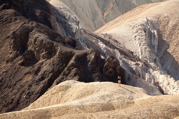 Girl looking at the landscape Death Valley