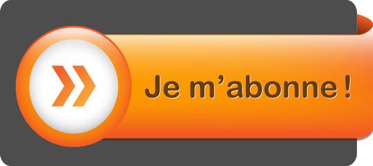 Bouton Web JE M'ABONNE (abonnement s'abonner cliquer ici bleu)