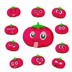 tomato cartoon with many expressions