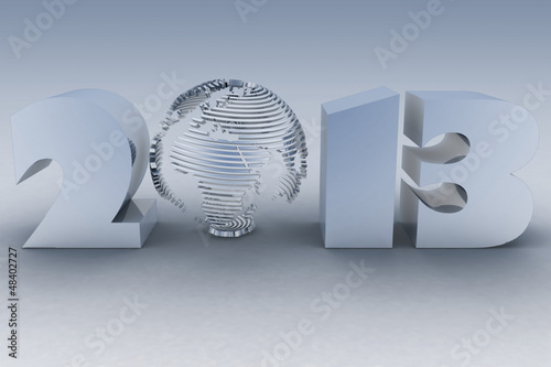 2013 year. 3d render image.