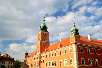 king castle in old town of Warsaw