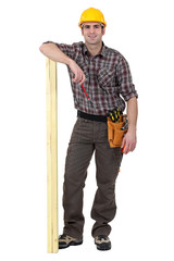 carpenter looking happy
