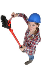 A female manual worker