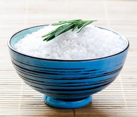 Bowl with sea salt