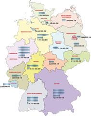 Deutschland Bundesländer Einwohner