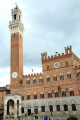 Palazzo Sansedonil, Piazza Il Campo, Siena, Tuscany, Italy