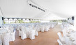 Wedding reception area tent