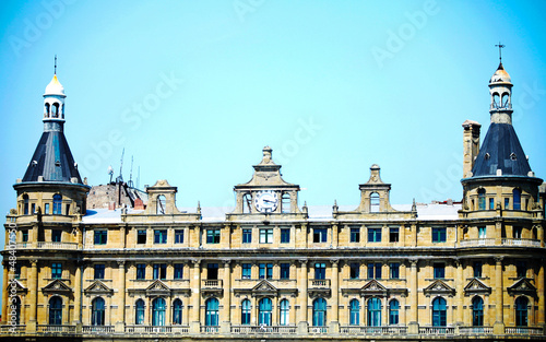 Haydarpasa train station building Istanbul Turkey (Best Detail)