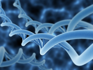 Digital illustration of a DNA