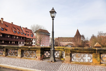 Germany, Bavaria, Nurnberg. Urban landscape