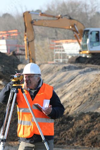 surveyor on a building site