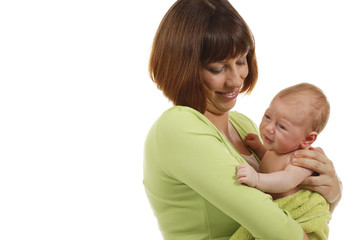 Glückliche Mutter mit Baby