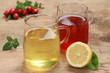 Gelber und roter Tee