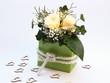 Blumendekoration für Valentinstag