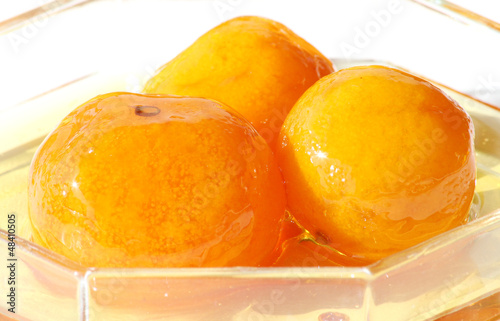 Greek Mandarin Jam in a Glass Bowl