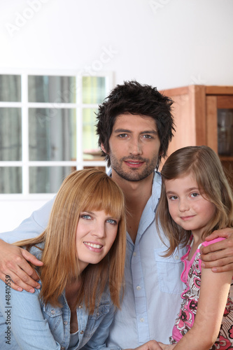 Parents with young daughter