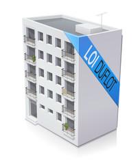 Immeuble en loi Duflot (reflet)
