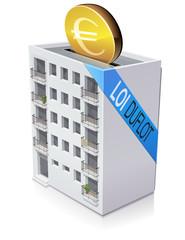 Investir des euros avec la loi Duflot (reflet)