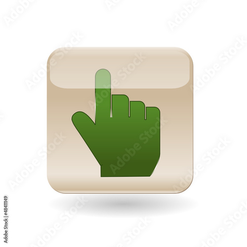 Icon pointer hand