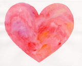 watercolor heart drawing