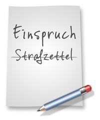 """Papier & Bleistift Illustration """"Einspruch / Strafzettel"""""""