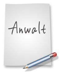 "Papier & Bleistift Illustration ""Anwalt"""