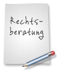 """Papier & Bleistift Illustration """"Rechtsberatung"""""""
